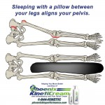 Sleeping with a pillow between your knees